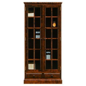 本棚 書棚 民芸家具 開き戸 完成品 85cm幅 「樹氷」 開梱設置|kagunoconcierge
