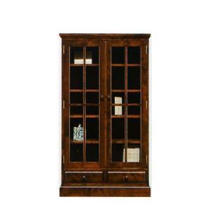 本棚 書棚 民芸家具 開き戸 ロータイプ 85cm幅 「樹氷」 開梱設置|kagunoconcierge