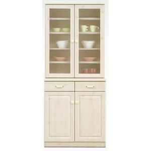 食器棚 完成品 76cm幅 「エコル」 開梱設置|kagunoconcierge