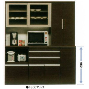 食器棚 引き戸 完成品 レンジ台 モイス 175cm幅 国産 開梱設置|kagunoconcierge