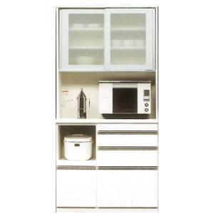 キッチンボード 完成品 レンジボード 国産 100cm幅 開梱設置|kagunoconcierge