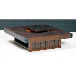 受注生産 民芸家具 和 民芸座卓 テーブル 100cm角 「筑後民芸 99だんらん」 開梱設置|kagunoconcierge