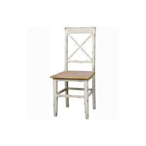 ダイニングチェア 椅子 イス ホワイト 北欧 フレンチカントリー シャビー アンティーク調 COL-019 ブロッサム 2脚セット|kagunoroomkoubou