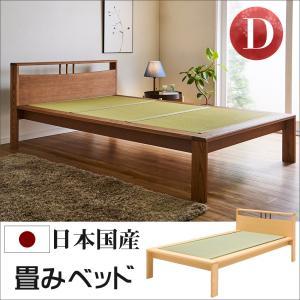 畳 ベッド セミダブル 日本製 国産 大川家具 明里 セミダブルベッド セミダブルロングサイズ|kagunoroomkoubou