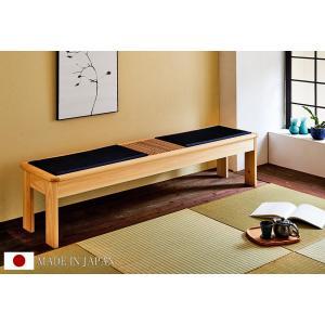 ベンチ チェア 腰掛け 日本製 国産 大川家具 和風 和モダン 宵月 畳 ベンチ|kagunoroomkoubou|02