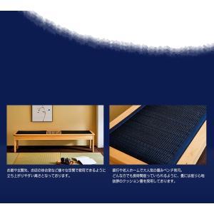 ベンチ チェア 腰掛け 日本製 国産 大川家具 和風 和モダン 宵月 畳 ベンチ|kagunoroomkoubou|06