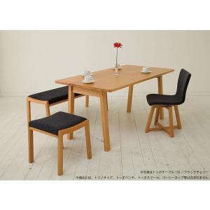 ダイニングテーブル テーブル 食卓 机 北欧 シンプル 国産 天然木 無垢 ナチュラル TOPO 180 ブラックチェリー|kagunoroomkoubou