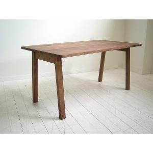 ダイニングテーブル 食卓 机 国産 天然木 無垢 北欧 シンプル ナチュラル TOPO テーブル 180 ウォールナット|kagunoroomkoubou