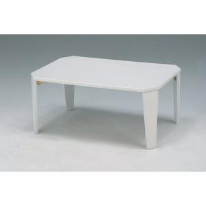 折りたたみテーブル 鏡面折れ脚テーブル ホワイト|kagunoroomkoubou