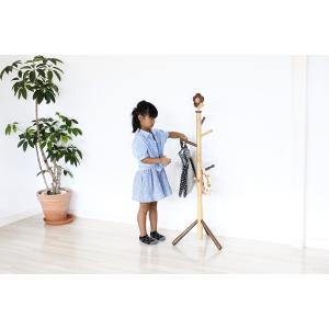 キッズポールハンガー(花・ハナ) キッズ家具 子供用 kagunoroomkoubou 03