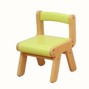 子供部屋 na-KIDS キッズ PVCチェアー グリーン 椅子 イス 子供 kagunoroomkoubou