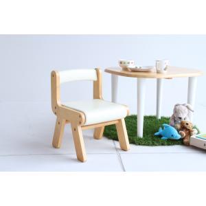 子供部屋 na-KIDS キッズ PVCチェアー アイボリー 椅子 イス 子供 kagunoroomkoubou
