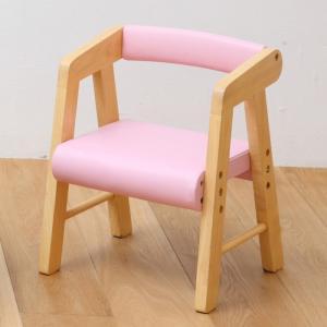 子供部屋 na-KIDS キッズ PVCチェアー (肘付き)ピンク 椅子 イス 子供 kagunoroomkoubou