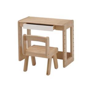 子供用の机と椅子がセットになったスタディーセットです。机の天板は高さをお好きな位置に取り付けることが...