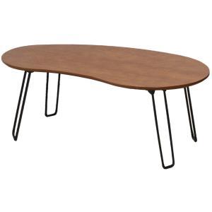 折りたたみテーブル Lect Table bean 豆型 ビーンテーブル 折れ脚テーブル 折り畳み 4本脚 天然木 オーク材 木製|kagunoroomkoubou