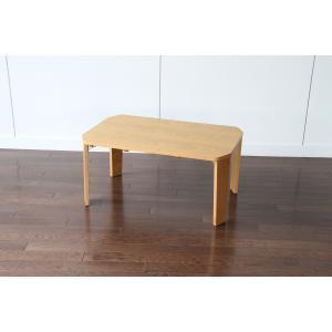 プロッシュテーブル 75 横幅75cm リビングテーブル ローテーブル センターテーブル ちゃぶ台 折りたたみ テーブル 折り畳み 天然木|kagunoroomkoubou
