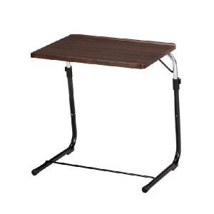 フォールディングサイドテーブル ブラウン FLS-1(BR) 折り畳みサイドテーブル 作業台 パソコンデスク kagunoroomkoubou