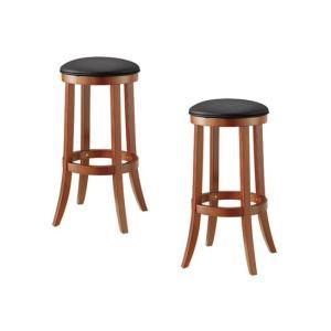 カウンターチェア スツール 椅子 イス チェア 2脚セット WKC-77 バースツール 天然木 ブラウン|kagunoroomkoubou