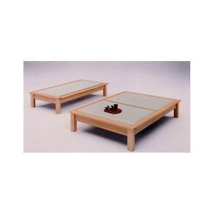 ダブルベッド(畳ベッド たたみベッド タタミベッド) 魁 ヘッドボードなし|kagunoroomkoubou