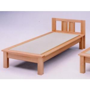 セミダブルベッド(畳ベッド たたみベッド タタミベッド) 魁 ヘッドボード付き|kagunoroomkoubou