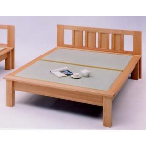 ダブルベッド(畳ベッド たたみベッド タタミベッド) 魁 ヘッドボード付き|kagunoroomkoubou