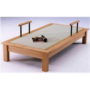 セミダブルベッド(畳ベッド たたみベッド タタミベッド) 魁III ヘッドボードなし 手擦り付|kagunoroomkoubou