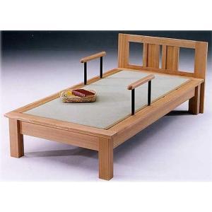 シングルベッド(畳ベッド たたみベッド タタミベッド) 魁III ヘッドボード付き 手擦り付|kagunoroomkoubou