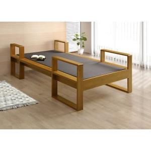 シングルベッド 畳ベッド 庵 たたみ タタミ 和風 和モダン 国産 アルダー 和紙畳 受注生産|kagunoroomkoubou