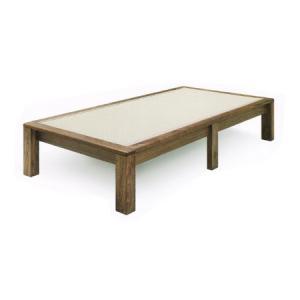 ダブルベッド 畳ベッド 梓 プレーンタイプ たたみ タタミ 和風 和モダン 国産 ウォールナット 和紙畳 受注生産|kagunoroomkoubou