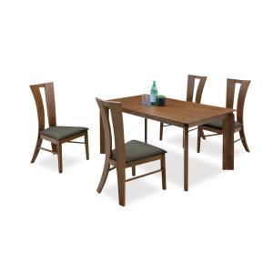 ダイニングテーブルセット 5点 ミシュラン (140ダイニングテーブル+チェアー4脚)|kagunoroomkoubou
