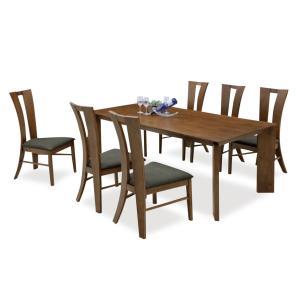 ダイニングテーブルセット 7点 ミシュラン (180ダイニングテーブル+チェアー6脚)|kagunoroomkoubou