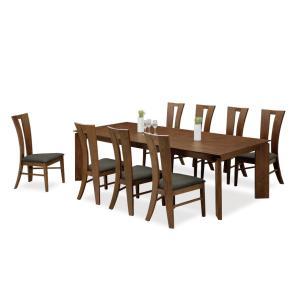 ダイニングテーブルセット 9点 ミシュラン (240ダイニングテーブル+チェアー8脚)|kagunoroomkoubou
