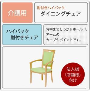 肘付きハイバックチェア ダイニングチェア Care-AC-001-IN 2脚セット 介護椅子 高齢者向け 肘付き イス いす 法人様(店舗様)向け kagunoroomkoubou