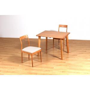 ダイニングテーブルセット 3点セット 2人掛け チェア ZIN 幅90cm (テーブルx1台,チェアx2脚)|kagunoroomkoubou