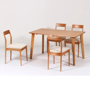 ダイニングテーブルセット 5点セット 4人掛け チェア ZIN 幅130cm (テーブルx1台,チェアx4脚)|kagunoroomkoubou