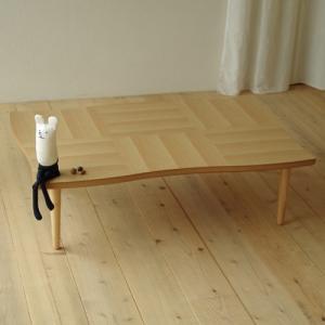 座卓 リビングテーブル 机 テーブル 国産 リビング NAMI(ナミ) ナラ 120|kagunoroomkoubou
