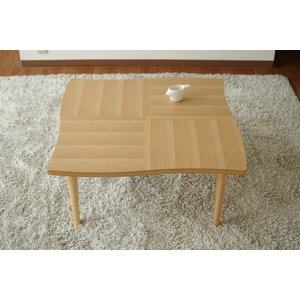 座卓 リビングテーブル 机 テーブル 国産 リビング NAMI(ナミ) ナラ 80|kagunoroomkoubou