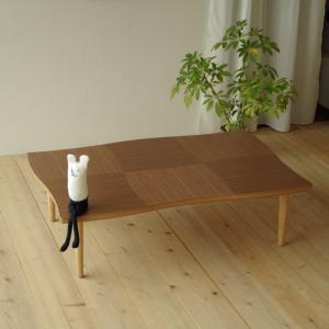 こたつ こたつテーブル リビングテーブル 座卓 国産 コタツ 暖卓 NAMI(ナミ) ウォールナット 120|kagunoroomkoubou