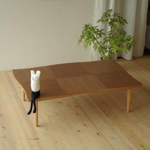 座卓 リビングテーブル 机 テーブル 国産 リビング NAMI(ナミ) ウォールナット 120|kagunoroomkoubou