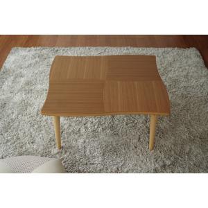 座卓 リビングテーブル 机 テーブル 国産 リビング NAMI(ナミ) ウォールナット 80|kagunoroomkoubou