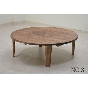 ちゃぶ台 座卓 丸 円形 円卓 リビングテーブル テーブル 机 丸テーブル 幅105cm no-3 ひのき材|kagunoroomkoubou