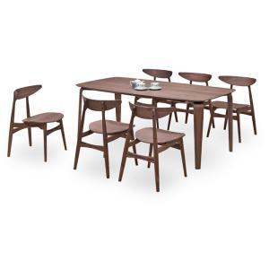 ダイニングテーブルセット 7点 マルティWN ウォールナット (180ダイニングテーブル+チェアー6脚) 座面板座|kagunoroomkoubou