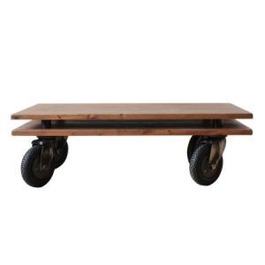 ヴィンテージ調家具 DUNK ダンク 110 リビングテーブル センターテーブル 木製 ダメージ加工|kagunoroomkoubou