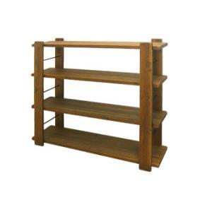 ヴィンテージ調家具 DUNK ダンク 115ローシェルフ ラック 収納 木製 ダメージ加工|kagunoroomkoubou