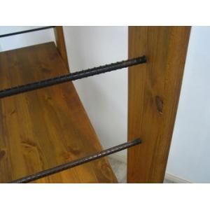 ヴィンテージ調家具 DUNK ダンク 115ローシェルフ ラック 収納 木製 ダメージ加工|kagunoroomkoubou|03