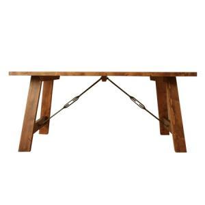 ヴィンテージ調家具 DUNK ダンク 160 ダイニングテーブル 木製 ダメージ加工|kagunoroomkoubou
