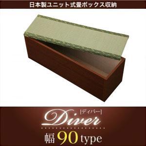 日本製 ユニット式畳ボックス収納(Diver)ディバー 幅90タイプ(1体)|kagunoroomkoubou