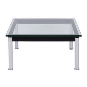 ル コルビジェLC10 センターテーブル 70 ローテーブル リビングテーブル スチールクロムメッキ 強化ガラス kagunoroomkoubou