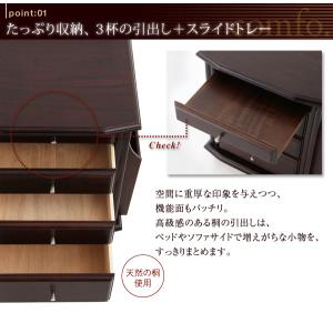 コンセントつき 天然木ベッドサイドテーブル(ナイトテーブル) comfo. コンフォ kagunoroomkoubou 02