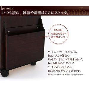 コンセントつき 天然木ベッドサイドテーブル(ナイトテーブル) comfo. コンフォ kagunoroomkoubou 03